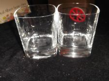 PAIR OF JACK DANIELS OLD NO 7 SQUARE GLASSES GREAT CONDITION